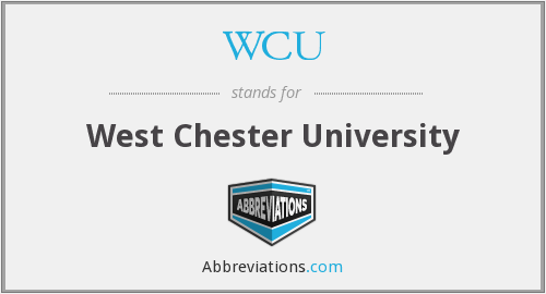 What does WCU stand for?