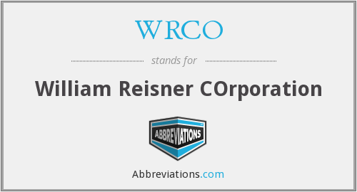 What does WRCO stand for?