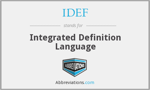 What does IDEF stand for?