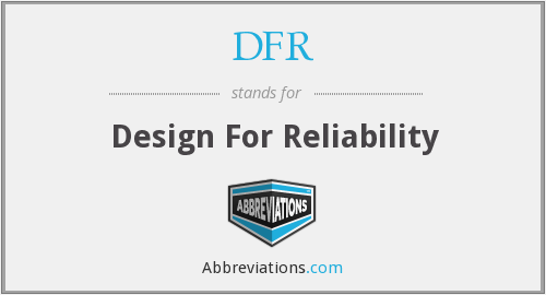 What does DFR stand for?