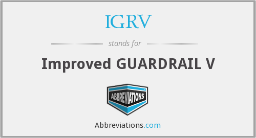 What does IGRV stand for?