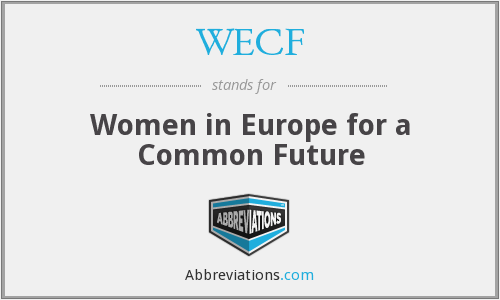 What does WECF stand for?