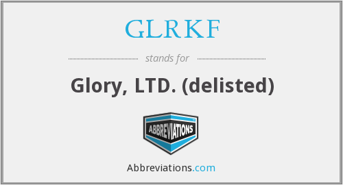 What does GLRKF stand for?