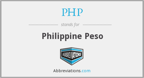 What does PHP stand for?