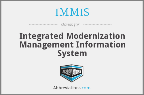 What does IMMIS stand for?