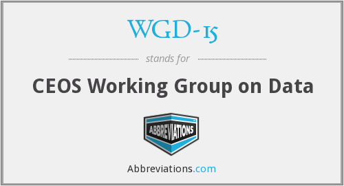 What does WGD-15 stand for?