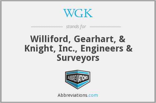 What does WGK stand for?