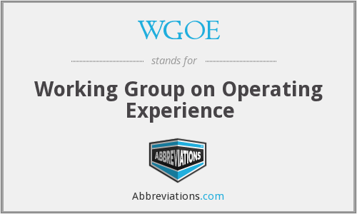 What does WGOE stand for?