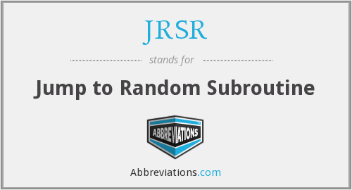 What does JRSR stand for?