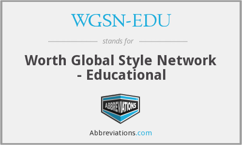 What does WGSN-EDU stand for?