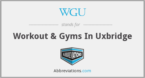 What does WGU stand for?