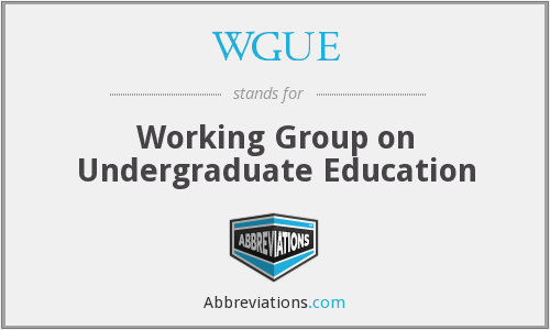 What does WGUE stand for?