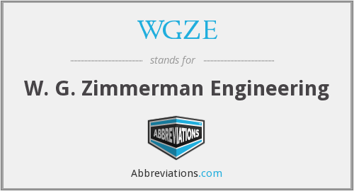 What does WGZE stand for?
