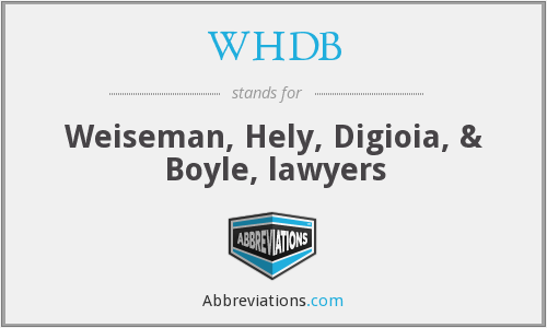What does WHDB stand for?