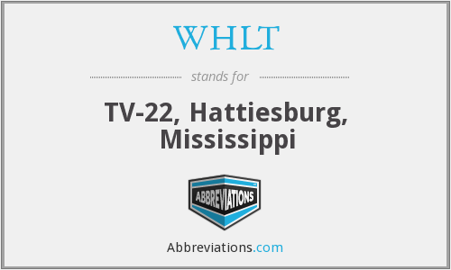 What does WHLT stand for?
