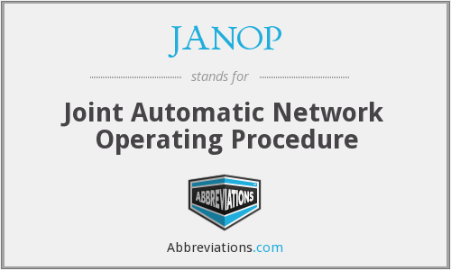 What does JANOP stand for?