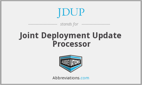 What does JDUP stand for?