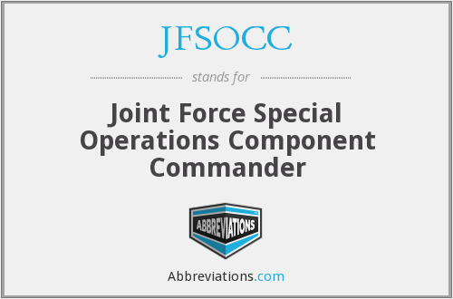 What does JFSOCC stand for?