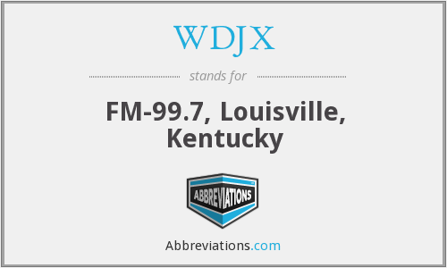 What does WDJX stand for?