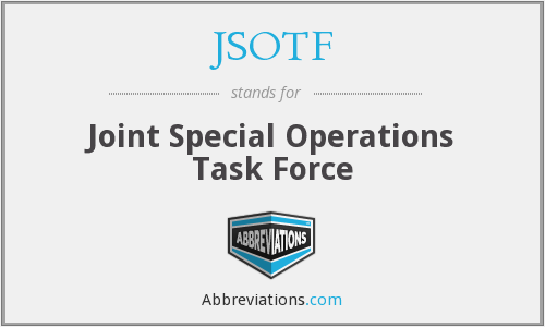 What does JSOTF stand for?