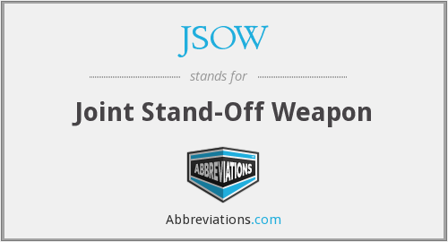 What does JSOW stand for?