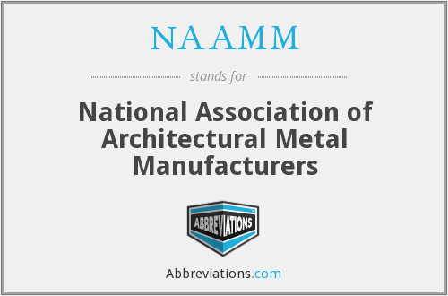 What does NAAMM stand for?