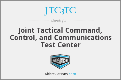 What does JTC3TC stand for?