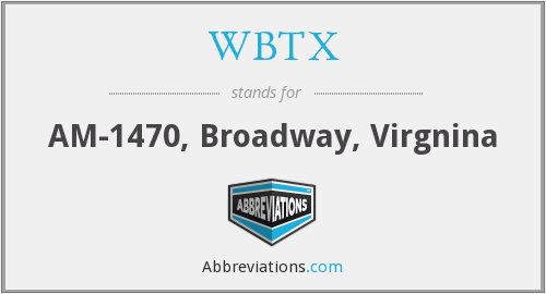 What does WBTX stand for?