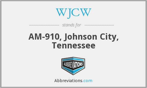 What does WJCW stand for?