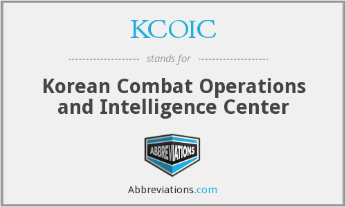 What does KCOIC stand for?
