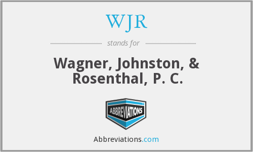 What does WJR stand for?