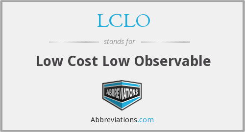 What does LCLO stand for?