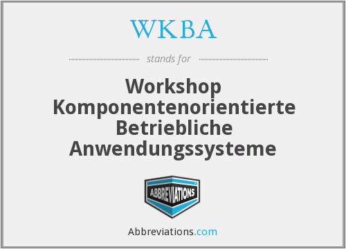 What does WKBA stand for?