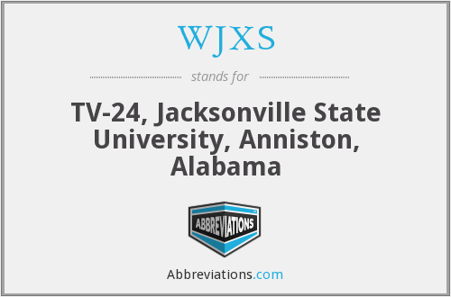 What does WJXS stand for?