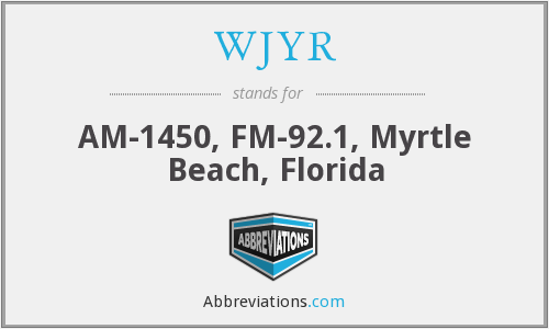 What does WJYR stand for?