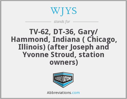 What does WJYS stand for?