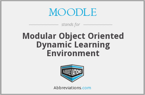 What does MOODLE stand for?