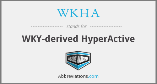What does WKHA stand for?