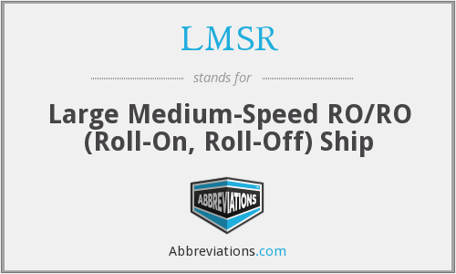What does LMSR stand for?