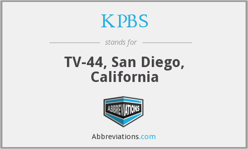 What does KPBS stand for?