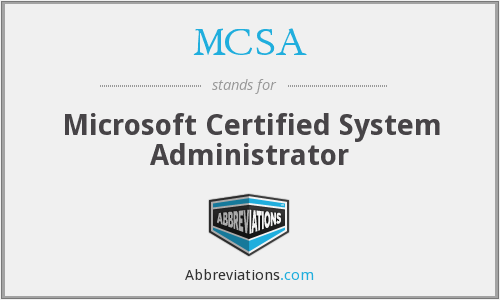 What does MCSA stand for?