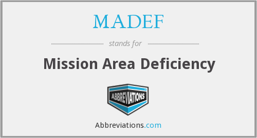 What does MADEF stand for?