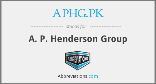 What does APHG.PK stand for?