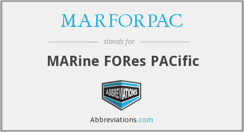 What does MARFORPAC stand for?