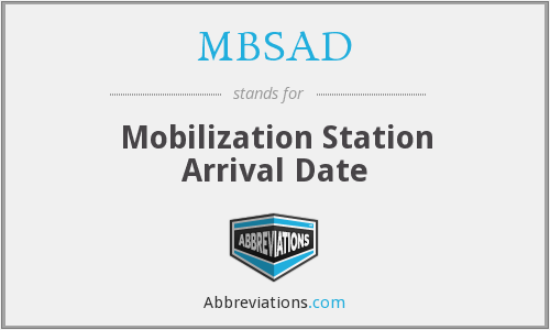 What does MBSAD stand for?