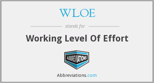 What does WLOE stand for?