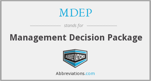 What does MDEP stand for?