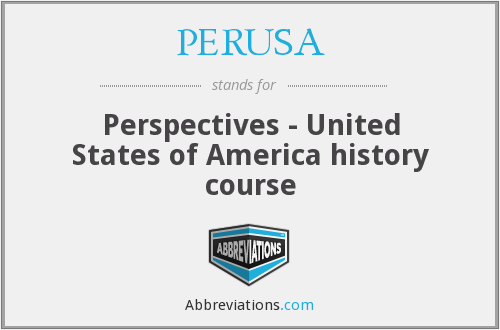 What does PERUSA stand for?