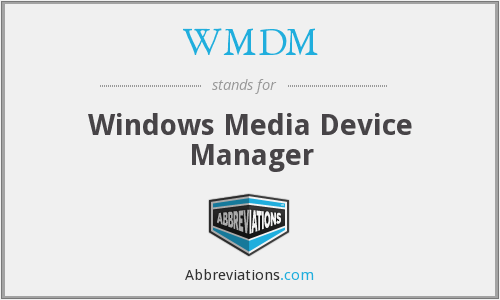 What does WMDM stand for?