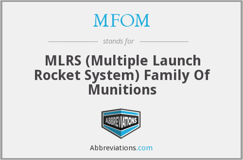 What does MFOM stand for?